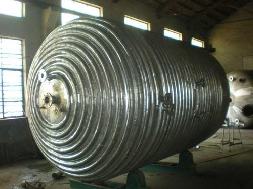 stainless steel limpet coil reactor