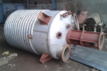 stainless steel limpet coil reaction vessel